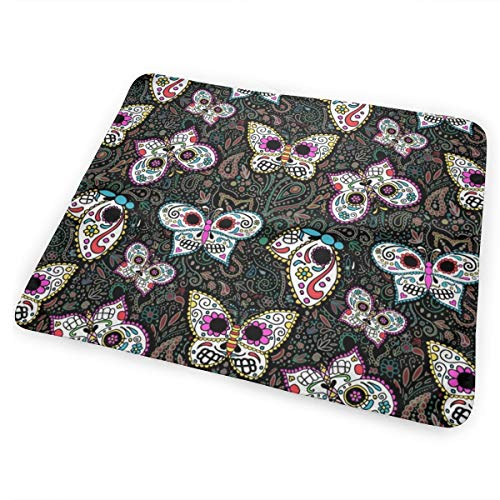 Tiny Butterfly Sugar Skulls Printed Fabric Bed Pad Washable Waterproof Urine Pads for Baby Toddler Children and Adults 31.5 X 25.5 inch