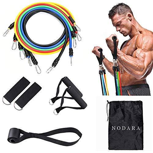 Set di espansori toracici per fascia di resistenza NODARA, corda per stretching per bodybuilding Pilates, utilizzati per l'allenamento di resistenza, fisioterapia, attrezzature sportive domestiche