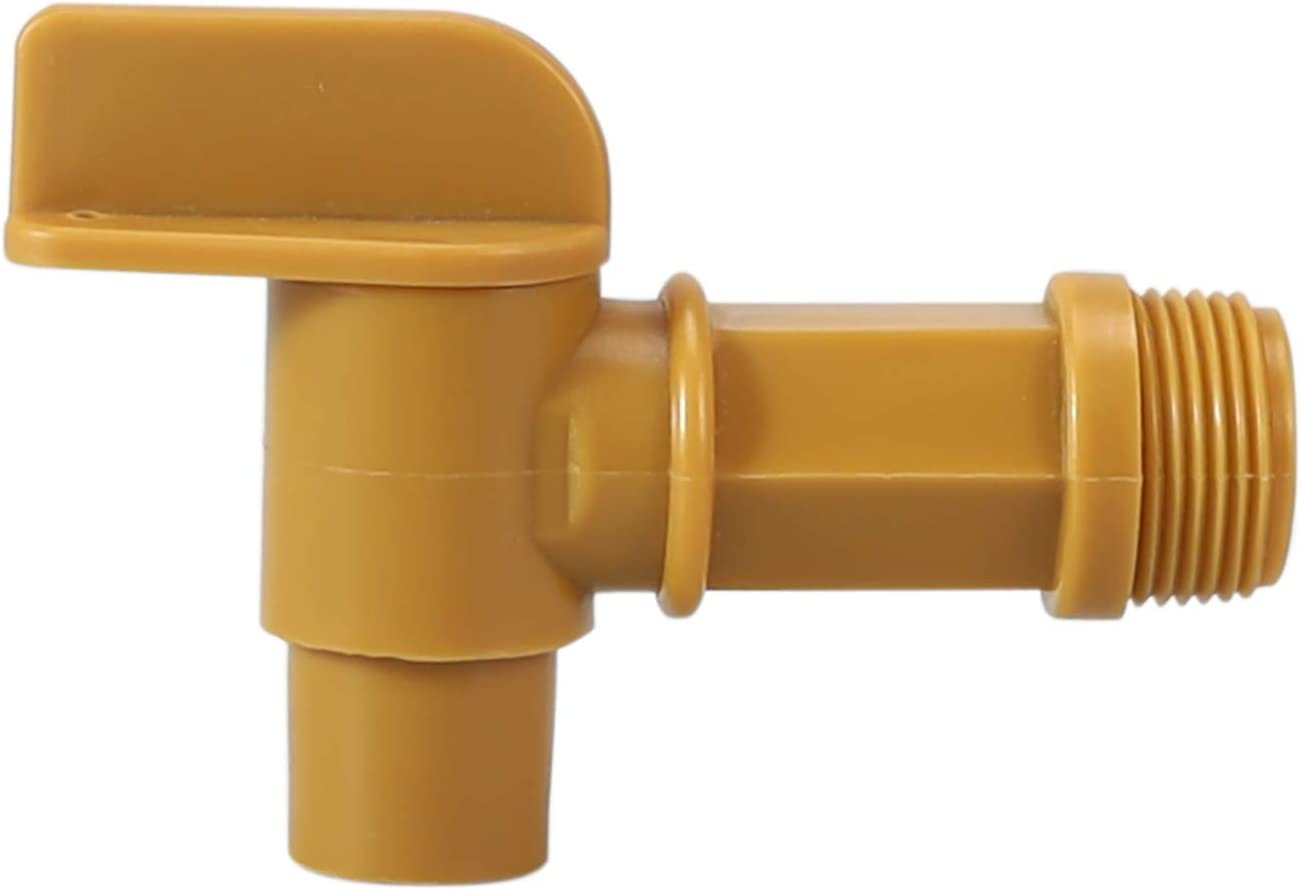 """3/4"""" Male Barrel Faucet for use with 15 30 55 Gallon Plastic or Steel Drums Tough Durable Polyethylene Material for Good Resistance to Chemicals by GwenB : Industrial & Scientific"""