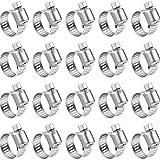 Abrazadera de manguera de acero inoxidable 10 unids de hierro de accionamiento galvanizado Abrazadera de la manguera Tri Pinza de combustible ajustable Línea de combustible Tubería Gusano Gusano Clip