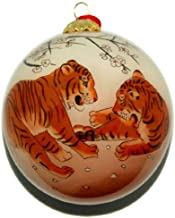 World Treasure Hand Painted Glass Ornament, Tiger CO-171