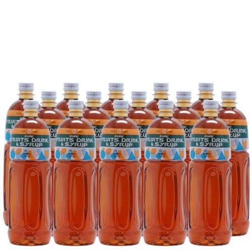 【業務用】 梅シロップ (梅フレーバーシロップ) 1L ペットボトル×15本