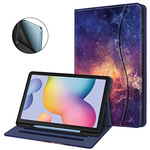Fintie Hülle für Samsung Galaxy Tab S6 Lite, Soft TPU Rückseite Gehäuse Schutzhülle mit S Pen Halter und Dokumentschlitze für Samsung Tab S6 Lite 10.4 Zoll SM-P610/ P615 2020, Die Galaxie
