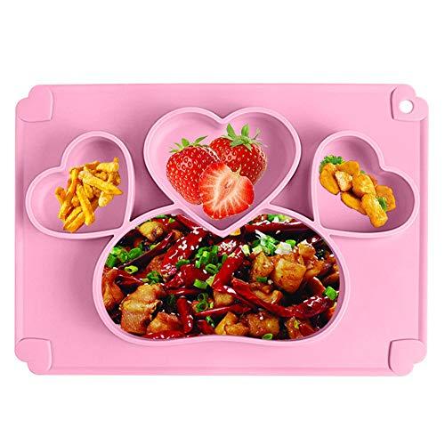 BESLIME Baby Teller Schüssel Mini Silikon Tischset für Baby, Kleinkinder und Kinder Tragbar Teller Baby Rutschfest Babyteller mit Saugnapf Kinder Tischset Abwaschbar für Spülmaschine, Mikrowelle