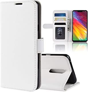 Mobile phone case R64 Texture Horizontal Flip Leather Case For LG G7 Fit, With Holder & Card Slots & Wallet (Color : White)