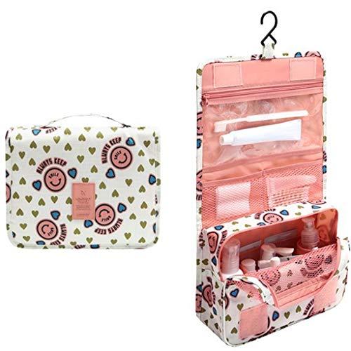 Conservazione Borsa cosmetica da Viaggio Borsa da Toilette Portatile for Donna, Borsa da Bagno Impermeabile for Uomo d'Affari di Grande capacità Bellissimo (Color : Pink)