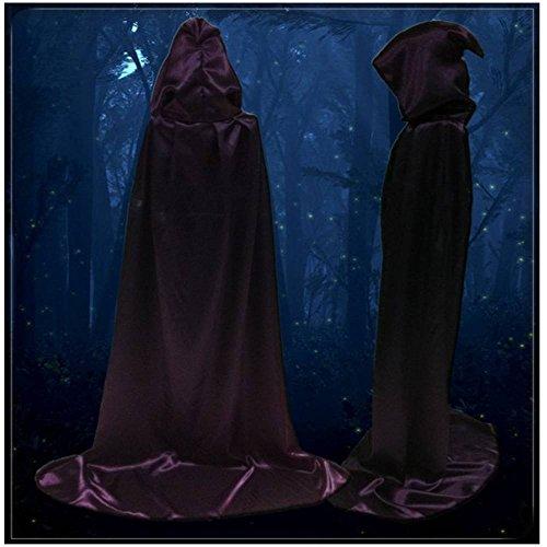 New Purple Sorcier Cape / traîné à mort Cape / Cape Halloween Taille M