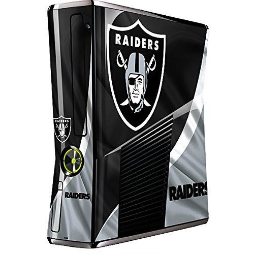 Skinit Decal Gaming Skin Compatible with Xbox 360 Slim (2010) - Officially Licensed NFL Las Vegas Raiders Design