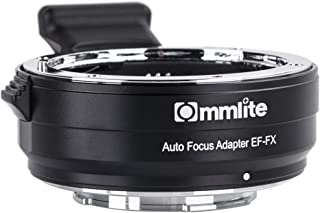 Commliteレンズマウントアダプタ CM-EF-FX (キヤノンef → Fuji xマウントアダプター) AFオートフォーカス 自動絞り 手振れ補正FUJIFILM X-T100, X-PRO2,X-T2,X-T20,X-T3 アダプター