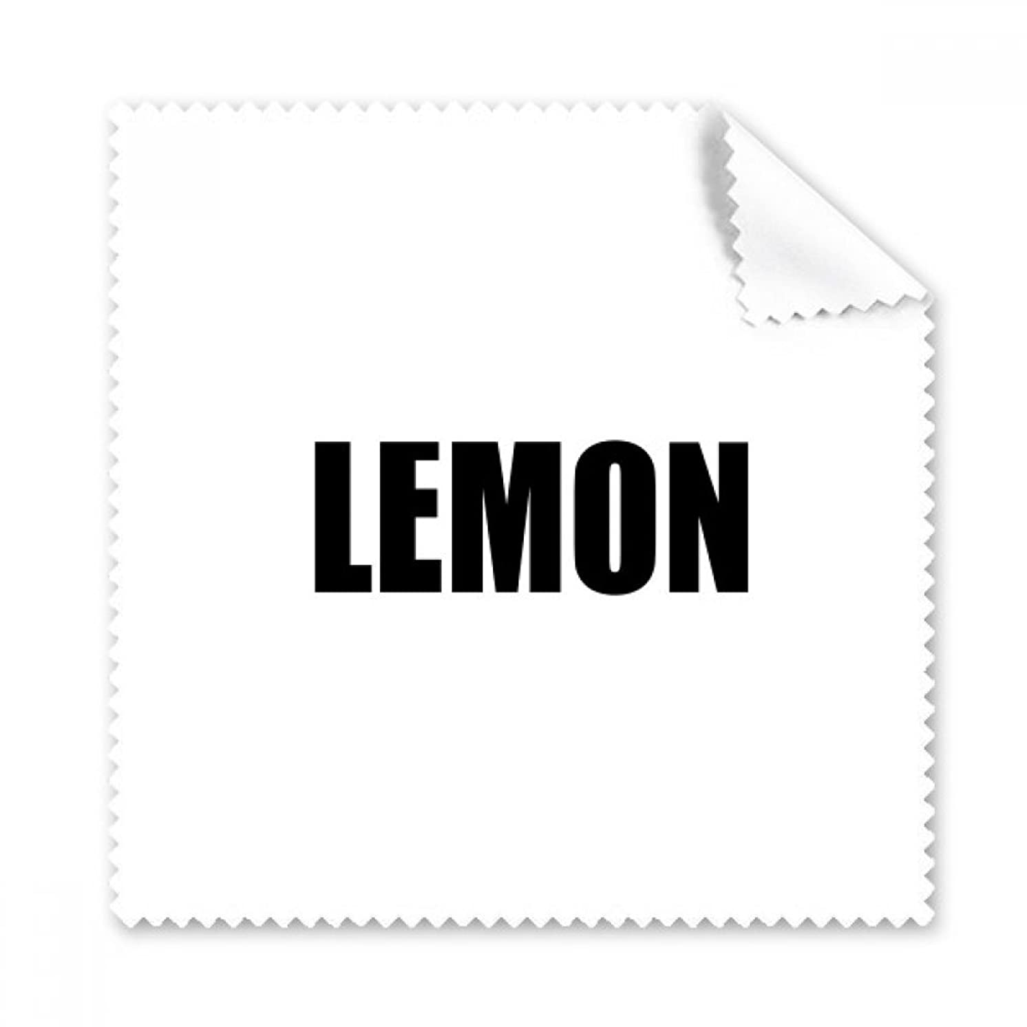 Lemon Fruit Name Foods Glasses Cloth Cleaning Cloth Phone Screen Cleaner 5pcs Gift