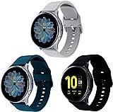 Chainfo Bracelet de Montre Compatible avec Huawei Watch GT 2 (42mm) / Honor Watch Magic 2 (42mm), Bracelet Respirable de Montre-Bracelet de Silicone (20mm, Bleu Foncé + Gris)