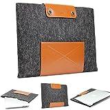 Urcover Handgefertigte Laptophülle kompatibel mit MacBook Pro 13 Zoll (43,5 cm) Tasche Sleeve Hülle EXTRA Fach für Maus Ladekabel etc. Notebooktasche Ultrabook-Schutzhülle in Schwarz Braun