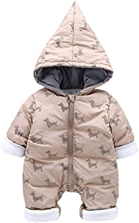 Fairy Baby Toddler Baby Unisex Cartoon Animal Romper Outwear Hood Jumpsuit Snowsuit