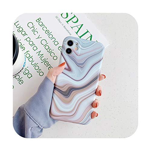 BSbattle Funda de teléfono de piedra de textura de mármol mate para iPhone 11 Pro Max 12 Pro 12Mini X XR XS Max 7 8 Plus suave IMD contraporta-IU0613-para iPhone X