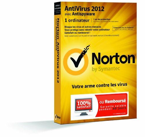 Symantec Norton AntiVirus 2012, 1u, 1y, CD, WIN, FRE