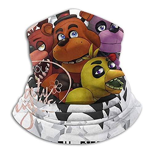 Freddie'S Five Nights At Freddy'S - Polaina para el cuello, resistente al viento, máscara facial mágica bufanda banda pasamontañas