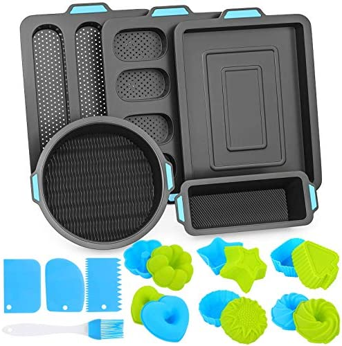 Duerer 40PCS Silicone Bakeware Set Cake Molds for Baking Nonstick Baking Pans Tray Food Grade product image