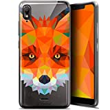 Ultra-Slim Polygon Animal Fox Case for 5.93 Inch Wiko View