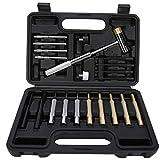 Juego de herramientas de perforación, materiales robustos y duraderos de alta calidad, juego de herramientas de mantenimiento con caja,