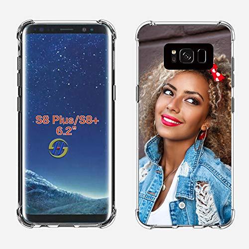 SHUMEI Funda Personalizar para Samsung Galaxy Note S8 Plus diseño de imagen de foto Personalizar regalo de Fotos, absorción de Golpes, Cubierta de TPU Suave y Transparente Para Bricolaje HD Picture