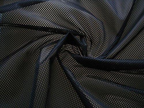 Stoffbook Tela con agujeros clásicos, color negro, malla de 2 mm, B674 (negro-100 x 155)