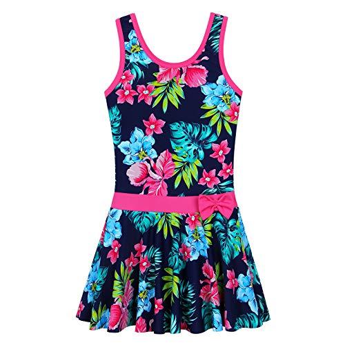 ZNYUNE Girls One Piece Braces Swimsuit Kids Swimwear One Piece Swimwear. - Blue - 4-5 Years