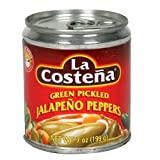 La Costena Green Pickled Jalapeno Peppers 7 oz. (Pack of 3)