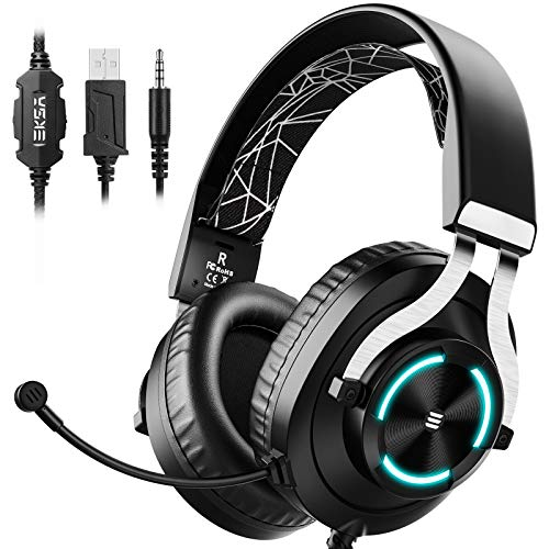 EKSA PS4 Gaming Headset - PC Headset Wired Headphones with Noise...