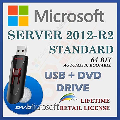 MS Windows Server 2012-R2 Standard 64 Bit , Par le Conducteur USB et DVD , Avec facture , Version complète , Expédition rapide , NOUVEAU