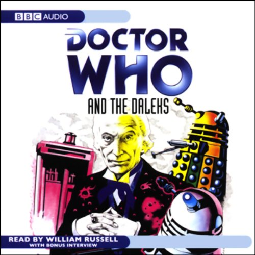 Doctor Who and the Daleks audiobook cover art