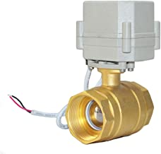 Two-Wires Control Normally Closed Two Way Brass 1 1/4 Inch,DN32 AC/DC9-24V Motorized Ball Valve with Position Indicator