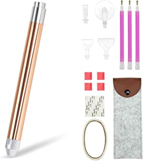 Dabixx 5D Diamond Painting Cross Stitch Embroidery Point Drill Pen 4 Heads w//LED Light Blue Bird