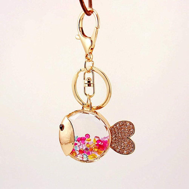 Shisky Schlüsselbund,Glasfischen Schlüsselanhänger Farbe Perlen Fisch Key Chain Zinklegierung Zinklegierung Zinklegierung + Strass Auto Anhänger B07K68FGJY 4df96d