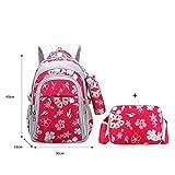 Floral Girls Backpacks School Bags For Girls Set Children School Bags- Rose Small
