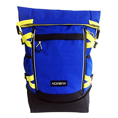 Nonbak mochila GIBRALTAR múltiples bolsillos natacion triatlon deep blue -Yellow 35 litros