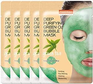 PUREDERM Deep Purifying Green O2 Bubble Mask 0.88oz x 5ea / Korean beauty/Bubble mask/Cleansing foam/Cleanser/Purifying mask/Green tea mask/Face toxin