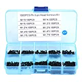 Tornillos M1 M1.2 M1.4 M1.7,kit Surtido de Tornillos Pequeños Autorroscantes Acero Inoxid...