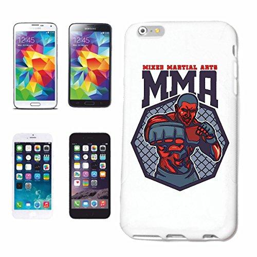 Reifen-Markt Handyhülle kompatibel für iPhone 6+ Plus MMA Mixed Material Arts Kampfsport Street Fighter Boxen Karate Judo Kickboxen Boxhandschuhe KOPFSCHUTZ GEBISS