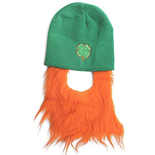 Five Below ST. Patricks Day Irish Beanie Hat with Leprechaun Beard Green