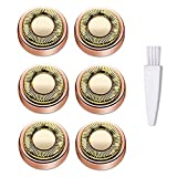 MXiiXM Facial Hair Remover Replacement Heads: Compatible with Facial Hair Trimmer Tool, As Seen On TV for Perfect Touch and Smooth Finishing, 18K Gold-Plated (6Pcs)