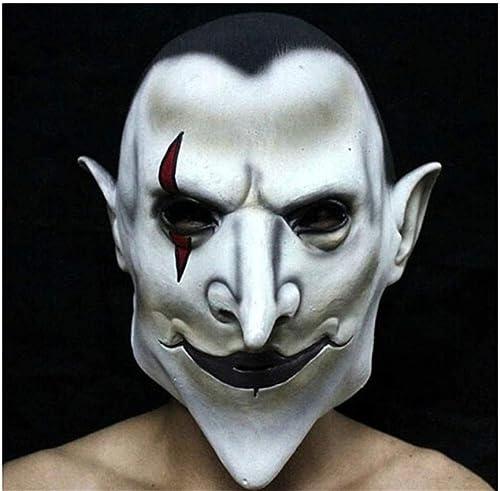 NUOKAI Halloween Maske Terrorist Kopfbedeckung Scary M er und Frauen Grimasse Masquerade Teufel Latex Clown Maske, Earl of Hell