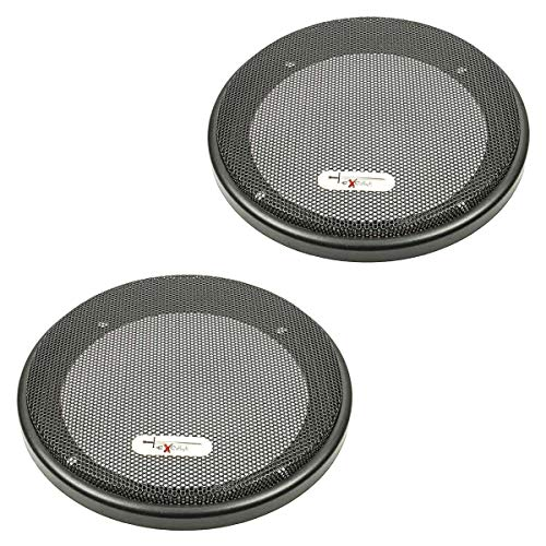 tomzz Audio 2800-001-1 Excalibur Lautsprecher Gitter Grill für 130mm DIN Lautsprecher, schwarz, 2-teilig Kunststoffring mit Metallgitter, Satz