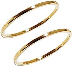 k18 指輪2個セット シンプル ペアリング 結婚指輪 マリッジリング 男女兼用 YG(18金イエローゴールド) WG(18金ホワイトゴールド) PG(18金ピンクゴールド) 職人 手作り 極細 リング オーダー (14, ピンクゴールド)