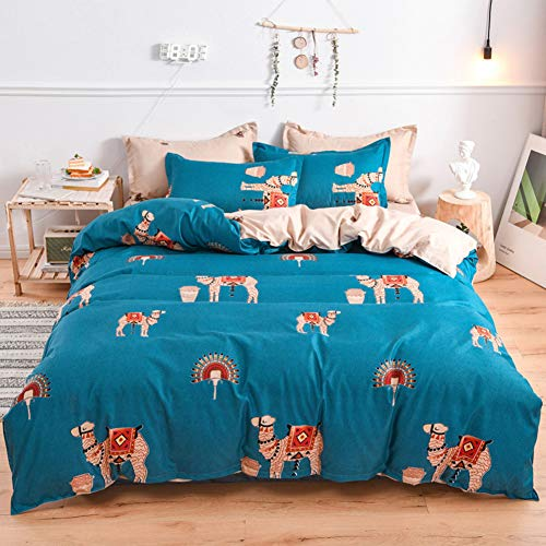 LAMEJOR Duvet Cover Sets Twin Size Christmas Theme Merry Christmas/Christmas Tree/Bells Pattern...