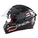 O'NEAL | Casco de Motocicleta | Motocicleta de Enduro | Estándares de Seguridad Dot y ECE 22.05, Carcasa ABS, Visera Solar integrada | Challenger Helmet Wingman | Adultos | Negro | Talla S