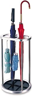 Yxsd Stainlss Steel Umbrella Stand with Drip Tray Long/Short Umbrella Holder with Hooks (Color : J6)