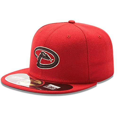 Authentic Arizona Diamondbacks Red / Black New Era Chapeau - 59Fifty Size 6 7/8