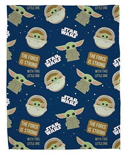 Baby Yoda Fleecedecke | Star Wars The Mandalorian The Child Design | Super weiche Decke | Perfekt für jedes Schlafzimmer | Polyester, 100 x 150 cm