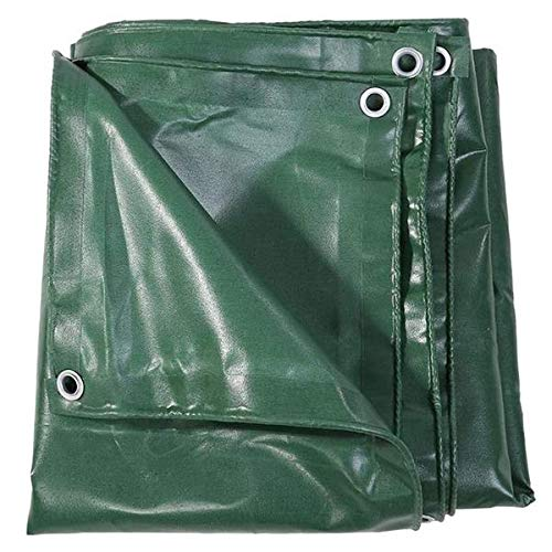 2x3M/660g/m2 Heavy Duty Premium PVC Tarpaulins,Green Color Outdoor Tarp Cover 100% Waterproof Rip Resistant UV Resistant Balcony Rot Proof Tarp with Grommets and Reinforced Edges Garden screen Camping