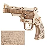 Garosa Pistolas de Rompecabezas de Madera 3D Pistolas de Juguete Pistolas de Juguete para niños Set DIY Revólver Hecho a Mano Modelo Kid Child Woodcraft Assembly Kit